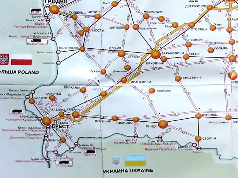 Автомобильные дороги Беларуси.